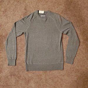 Grey Long-Sleeved Sweater